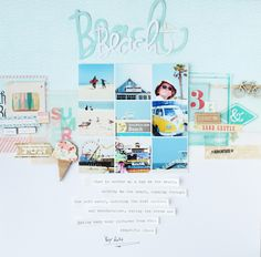 #Papercraft #scrapbook #layout.  Beach by SteffiandAnni at @studio_calico