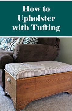 how to upholster with tufting