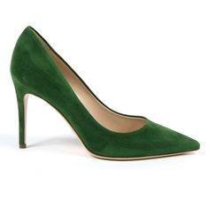 Womens Pump Green Memphis ($281) ❤ liked on Polyvore featuring shoes, pumps, green, green pumps, green suede pumps, suede shoes, suede leather shoes and high heeled footwear