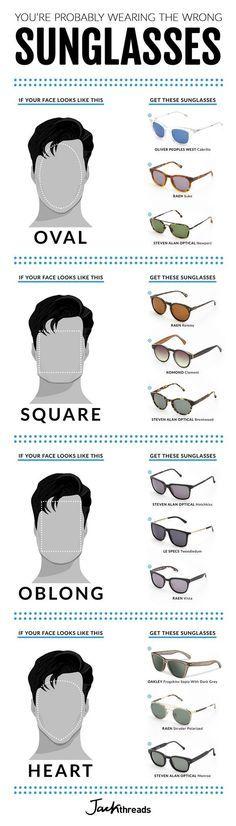Qué Tipo De Gafas De Sol Hemos De Usar Según La Forma De Nuestra Cara Estilo De Ropa Hombre Combinacion De Ropa Hombre Consejos De Moda Masculina