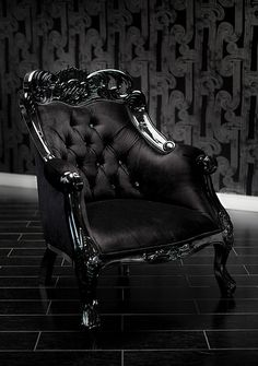 4009 BLACK VELVET BAROQUE TUFTED CHAIR WITH SWAROVSKI CRYSTALS  This divine French inspired chair is painted with a black lacquer finish, upholstered in beautiful black velvet and tufted with dazzling Swarovski crystals for that classic monochromatic appeal with a touch of glam.  As with many of our items, it can be customized to make it truly unique and yours alone!