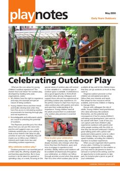 celebrating-outdoor-play-early-years-outdoors-learning by GeoAnitia via Slideshare