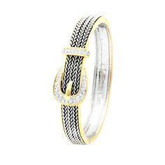 MODELO: B-MXPU954 PZA: Pulsera DESCRIPCION: Pulsera con baño de rodio y oro, con incrustaciones de zirconias blancas. #joyería #pulsera #fashion #followus #bracelet. Buy it on https://www.kichink.com/buy/480617/zienabisuteria/b-mxpu954?byp455=true#.VP9zMb5Z9ao