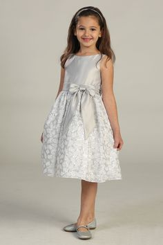 Girls Dress Style 403 - SALE Silver size 2 (1pc available) $39.99