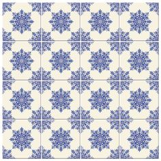 Adesivo de Parede Azulejo Hidraulico Tiles, Tile Patterns, Home, Blue And White, Home Decor