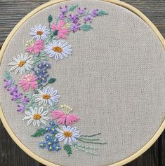 art of silk ribbon embroidery Simple Hand Embroidery Patterns, Hand Embroidery Videos, Hand Embroidery Tutorial, Embroidery Flowers Pattern, Creative Embroidery, Hand Embroidery Stitches, Embroidery Hoop Art, Crewel Embroidery, Cross Stitch Embroidery