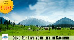 Our ‪#‎Journey‬ starts from 5th June 2015.. Come visit ‪#‎Kashmir‬ with us.. Call - +1800-11-2277 (Toll Free No.)