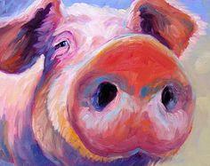 Cow Cow Art Cow Print Paper Canvas von betsymclellanstudio