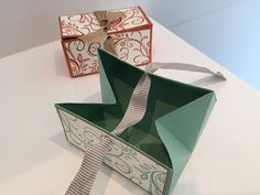 CraftyCarolineCreates: Chest Opening Gift Box - Video Tutorial Using Falling Flowers by Stampin' Up