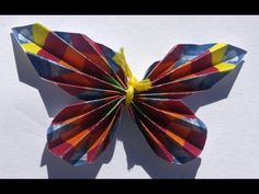 Paper Butterfly - YouTube  Just uploaded a new video! I hope you like it!
