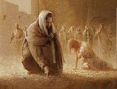 Jesus writes in the dirt (woman caught in adultery)