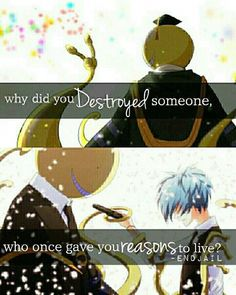 Image result for assassination classroom quotes