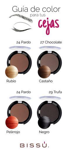Elige el tono perfecto para tus cejas de acuerdo al color de tu cabello.