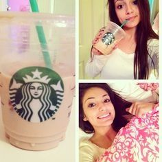 Typical Bethers-- drinking Starbucks and lying in bed