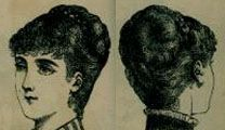 Bustle Era Hairstyles: Second Bustle Period, 1883-1889 (Includes a page with how-to advice!)