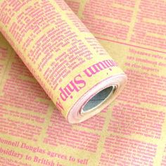 10M-Roll-Wrapping-Paper-News-Article-Pattern-English-Pink-20-8-x-L-32-8ft