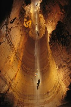 The Rumble Room, a limestone cavern underneath Tennessee's Dry Fork Creek, is one of the country's biggest caves.
