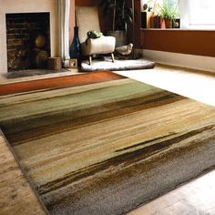 Carolina Weavers Brilliance Collection Avalanche Multi Area Rug (5'3 x 7'6) (5 ft 3 in x 7 ft 6 in), Brown, Size 5' x 7' (Plastic, Stripe)