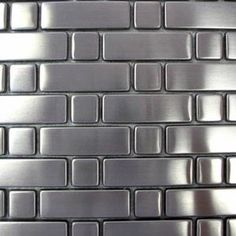 Diamond Tech (Brushed) Stainless Steel Tile (Rectangles and Squares)
