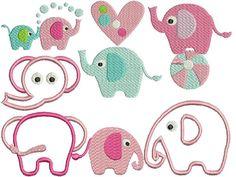 Stickdatei Elefanten 10x10 rahmen