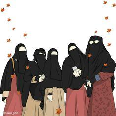 Muslim Girls, Muslim Couples, Muslim Women, Cartoon Girl Images, Girl Cartoon, Mode Niqab, Horse Girl Photography, Hijab Collection, Friend Cartoon