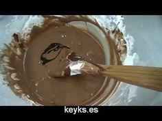 Curso básico fondant: Fondant de chocolate. chocolate MMF - YouTube