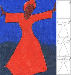 Art Projects for Kids: Bernard Hoyes-Inspired Dancing Lady