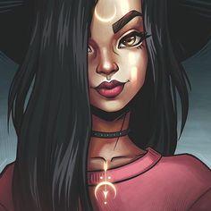 art, draw, and girl image Fantasy Kunst, Fantasy Art, Girl Cartoon, Cartoon Art, Witch Art, Black Girl Art, Digital Art Girl, Digital Portrait, Dope Art