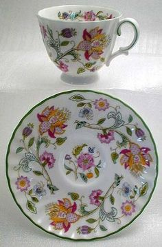 Image detail for -MINTON FINE BONE CHINA FLORAL Teacup & Saucer Set - Minton