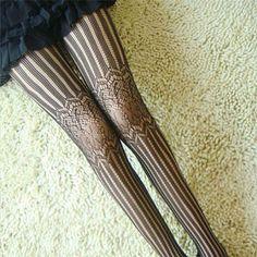 Feitong Fashion Women Sexy Lace Fishnet Tights Stockings Net Pattern Pantyhose Stockings Pantyhose black white Lingerie