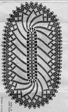 Vintage Mail Order Crochet Pattern gives directions for Pinwheel Doilies. The doilies are in an oval shape and can be crocheted at 15 x 30 or 11 x 16 inches in Mercerized Crochet Cotton. Filet Crochet, Crochet Shell Stitch, Crochet Borders, Crochet Squares, Crochet Motif, Crochet Designs, Crochet Doilies, Crochet Tops, Crochet Lace