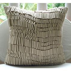 Decorative Throw Pillow Covers Accent Couch Pillows 18x18 Off White Felt Embroidered Pillows Off White Texture Pillow Case Home Living Decor