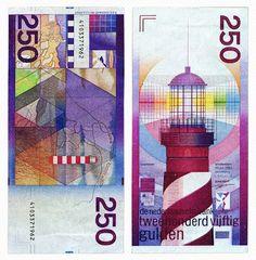 1986 - 250 gulden - Vuurtoren - ontwerper Ootje Oxenaar
