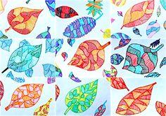 Per rimanere in tema con l'Autunno abbiamo disegnato delle foglie sfruttando il tema delle linee. Nelle classi prime abbiamo tracciato il disegno di una grande foglia a matita, e l'abbi…