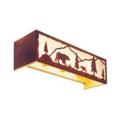Steel Partners Bear Timber Ridge 4 Light Vanity Light Wall Sconce Finish: Rust, Shade Color: Bungalow Green