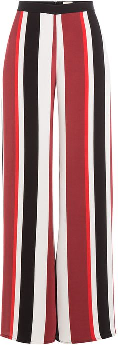 Earn Your Spring Fashion Stripes Early This Autumn Spring Fashion, Autumn Fashion, Celebrity Names, Silk Pants, Red Blouses, Who What Wear, Wide Leg Pants, Black Stripes, Legs