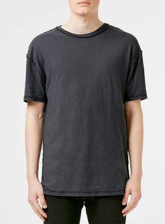 Washed Black Slubby Oversized T-Shirt