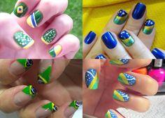 Jeitinho fashion de torcer!!! LindonaRem- Comunidade da Moda : Unhas decoradas com as cores da bandeira brasileir...
