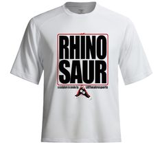 The suggestion was rhino.  When it was repeated back to the audience it became rhinosaur and made several repeat appearances throughout the show.