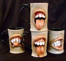 Clay mugs
