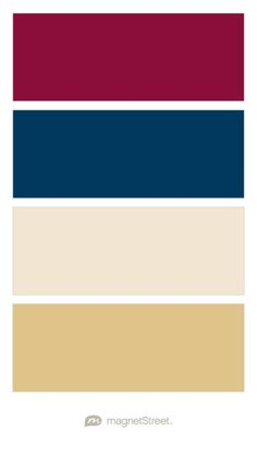 Burgundy, Navy, Champagne, and Gold Wedding Color Palette - custom color palette created at MagnetStreet.com