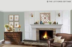 Love the back ground panels...Cottage Fireplace Designs   Stunning Fireplaces - Fireplace Ideas - Zimbio