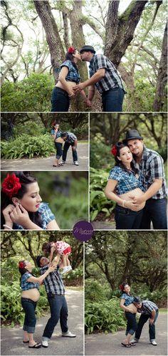 Rockabilly maternity photos