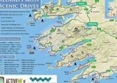 Ring of Kerry Scenic Drive & Cycle, Route Map, Kerry, Ireland | County Cork Ireland, Ireland Map, Dublin Ireland, Ireland Travel, Cycling Ireland, Ireland Castles, Ireland Food, Ireland Hotels, Ireland Destinations