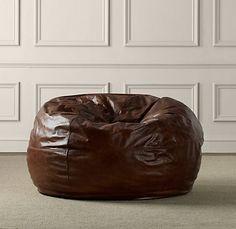 Beau Grand Leather Bean Bag Chair | Leather Bean Bag Chair, Leather Bean Bag And Bean  Bag Chair