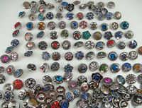10pcs Mix cz-Alloy lampwork Chunks Snap Button for Noosa charm accessories gift