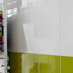 Carrelage salle de bain mural bonsai en fa ence beige for Carrelage mural sdb