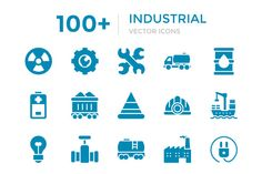 100+ Industrial Vector Icons by Vectors Market on @creativework247