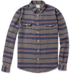Levi's Vintage Clothing Shorthorn Striped Woven-Cotton Shirt | MR PORTER