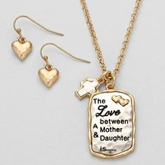 THE LOVE BETWEEN MOTHER & DAUGHTER PENDANT NECKLACE, $14.95